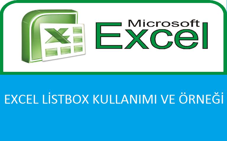 Excel'de Dinamik Listbox Oluşturma