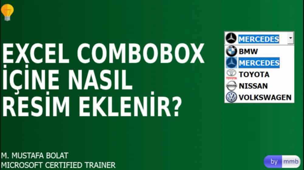 excel combobox içine resim ekleme