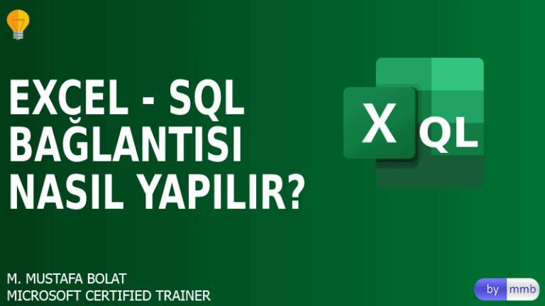 Excel-SQL Server Bağlantısı