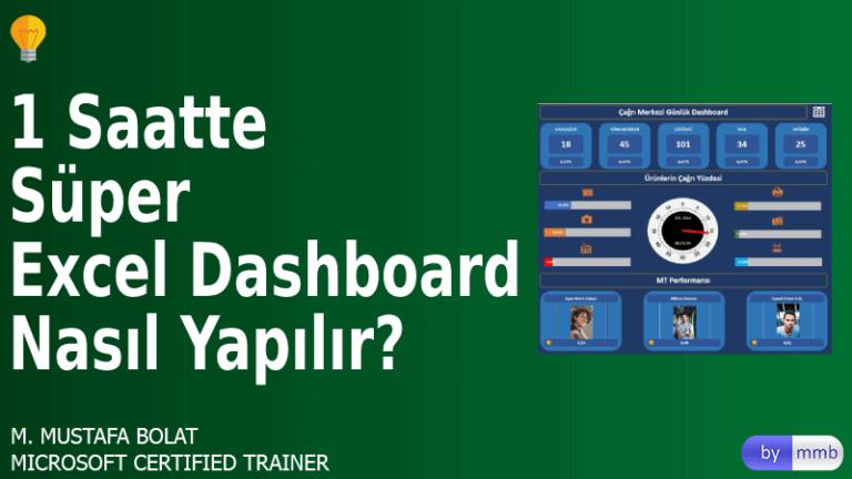 Excel'de Çağrı Merkezi Dashboard'u